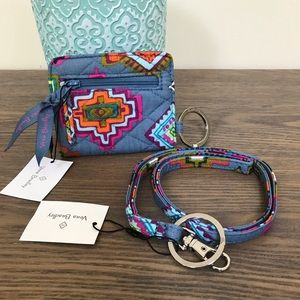 NEW Vera Bradley Lanyard & Iconic Campus Double ID